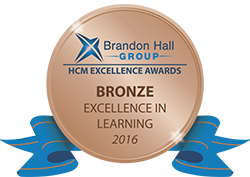 Brandon Hall Excellence Awards 2016 - Bronze medal