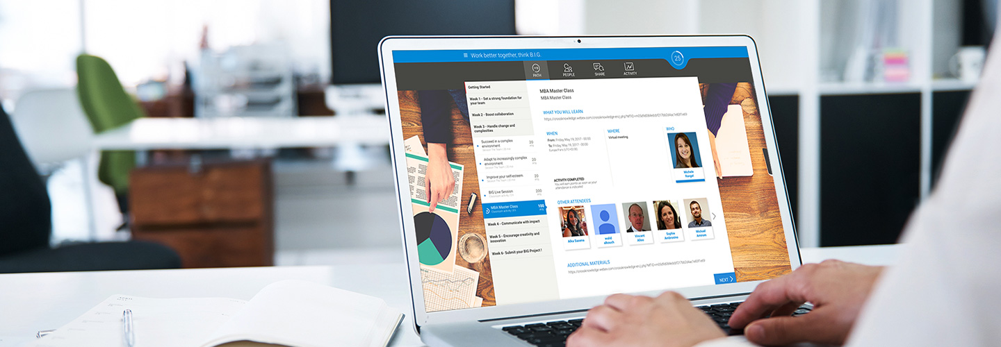 CrossKnowledge Learning suite: the Learning Experience System