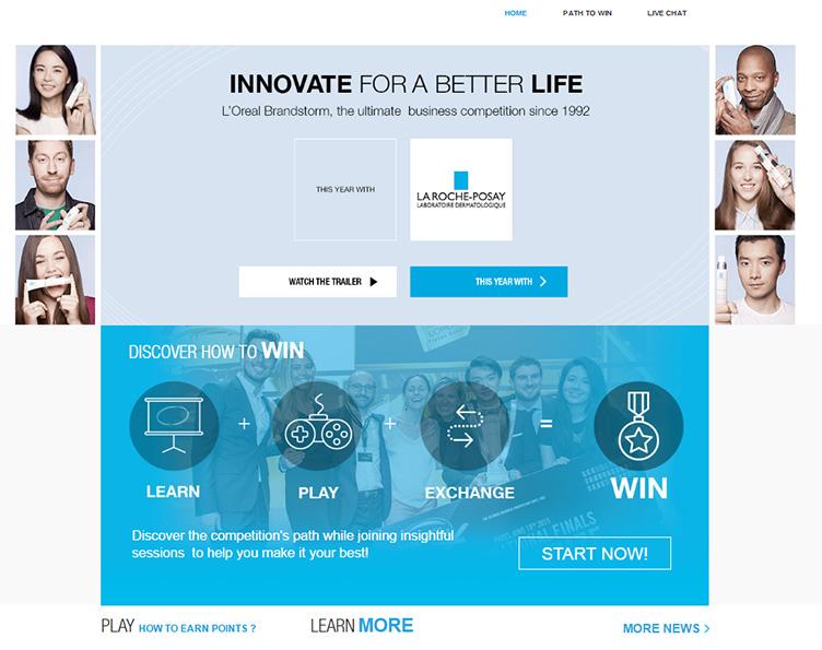 Le challenge L'Oréal Brandstorm 2016 porté par les solutions digitales de CrossKnowledge