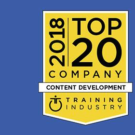 CrossKnowledge among 2018 Top 20 Content Development Companies List