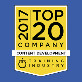 CrossKnowlegde genoemd als een van de 2017 Top 20 Content Development Companies door TrainingIndustry.com