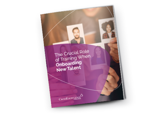 "Cover of the CrossKnowledge's guide ""The Crucial Role of Training When Onboarding New Talents"""