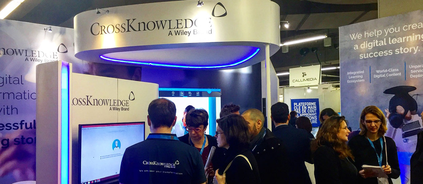 Stand CrossKnowledge - salon Learning Technologies France 2019 - Porte de Versailles