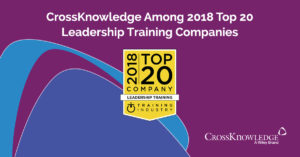 "CrossKnowledge was just recognized as one of the best providers in the ""Top 20 Leadership Training Companies List"" by TrainingIndustry.com"