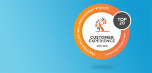 Top 20 LMSs based on Customer Experience y eLearning Industry