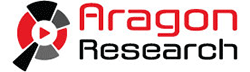 Aragon research logo Red and black