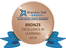 Brandon Hall Bronze medal - Excellence in Learning Awards 2018
