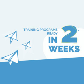 [Infographic] Training Programs Ready in 2 Weeks