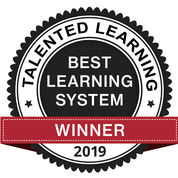 Talented Learning winner badge for Best Learning System