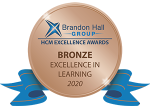 Brandon Hall Excellence in Learning Award 2020 Bronze