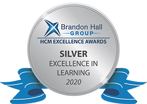 Brandon Hall Excellence in Learning Award 2020 Silver