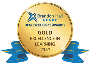 Brandon Hall Excellence in Learning Award 2020 Gold